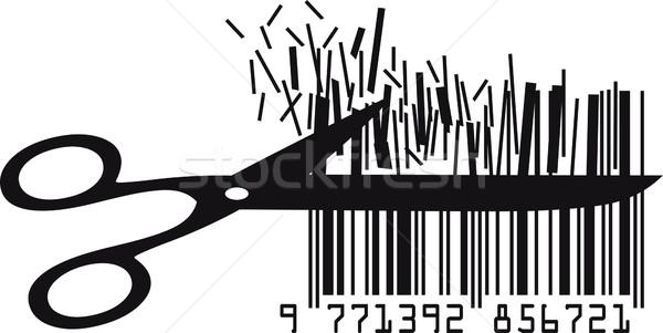 цен знак маркетинга графических штрих Сток-фото © Suljo