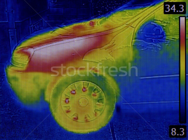 Engine Heat Distribution Infrared Stock photo © Suljo