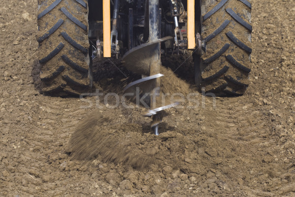 Drilling Hole with Tractor Stock photo © Suljo