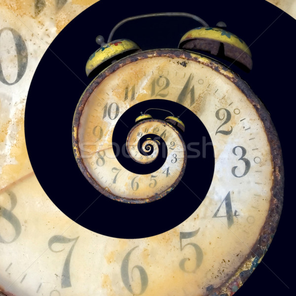 Infinite Old Rusty Clock Stock photo © Suljo