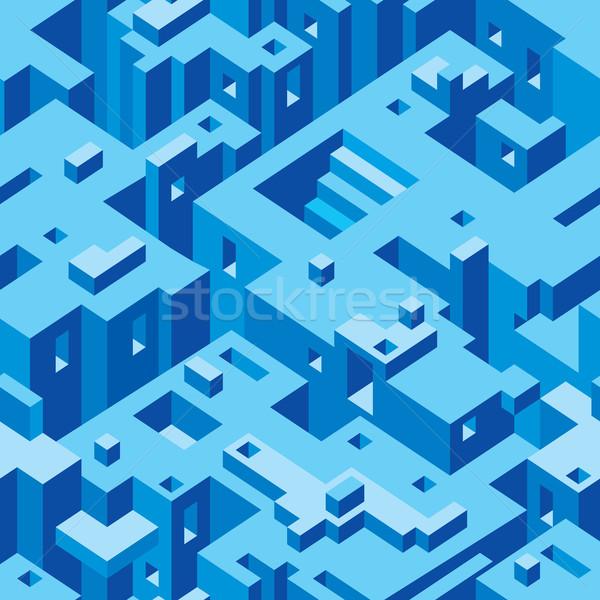 Abstrato arquitetura vetor sem costura textura padrão Foto stock © Suljo
