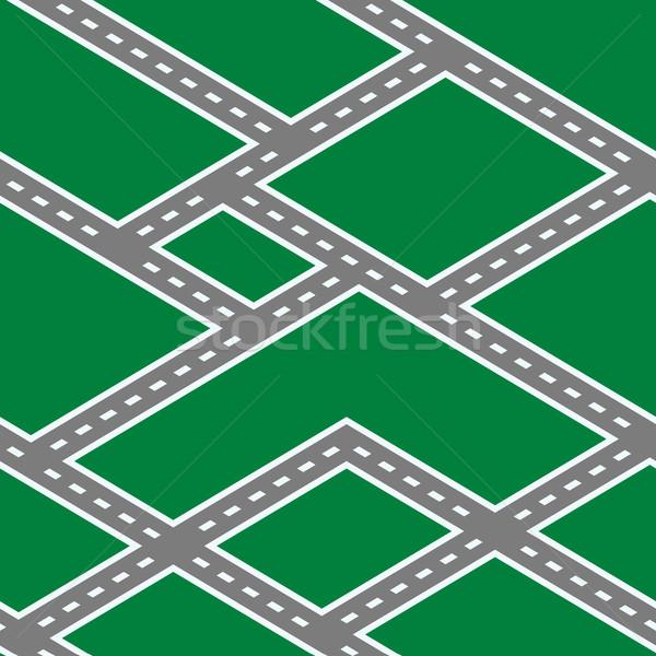 Seamless Roads Texture Stock photo © Suljo