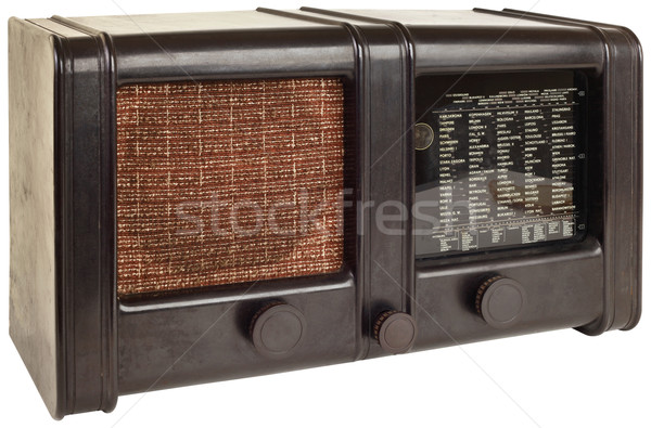 Stock photo: Old Tuner Cutout