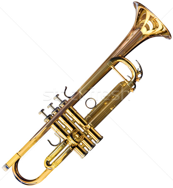 Trumpet cutout Stock photo © Suljo