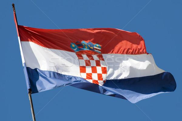 Croatian Flag Stock photo © Suljo