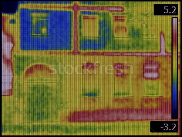 Homlokzat infravörös kép ház épület építészet Stock fotó © Suljo