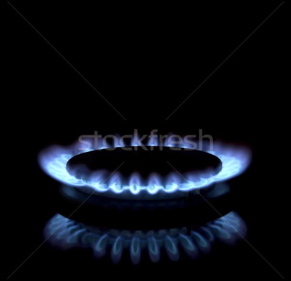 Gas huis natuur licht achtergrond Stockfoto © Suljo