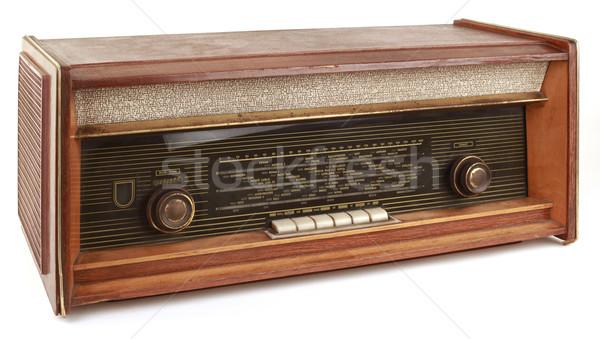 Vecchio radio vintage isolato bianco comunicazione Foto d'archivio © Suljo