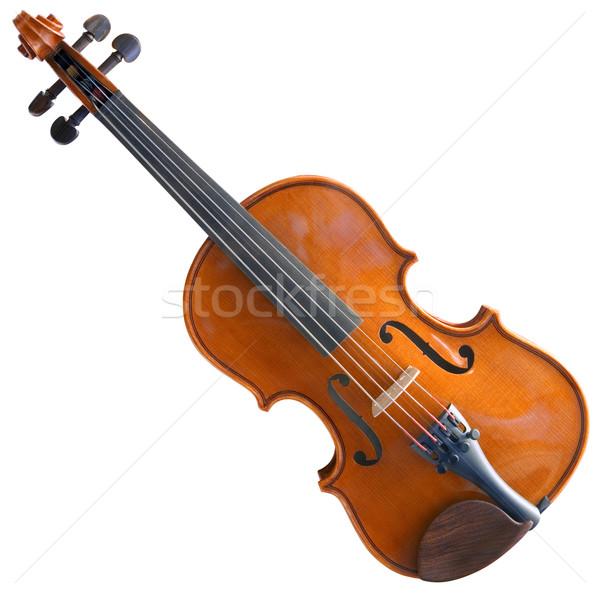 скрипка скрипки изолированный белый Сток-фото © Suljo
