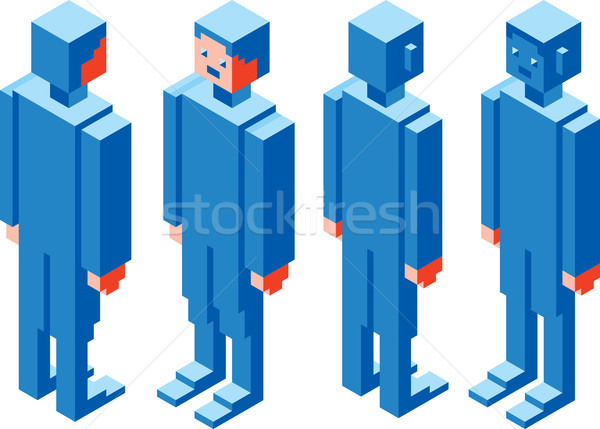 Cubic Character Stock photo © Suljo