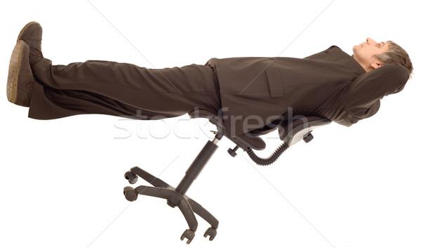 Dagelijks droom dromerig zakenman overpeinzing geïsoleerd Stockfoto © Suljo