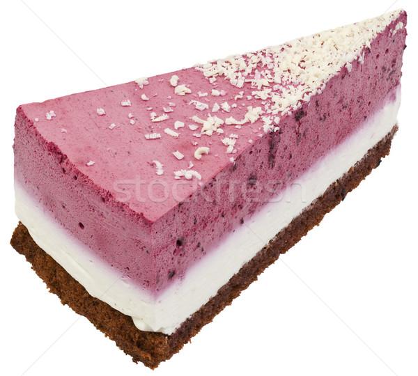 Strawberry Cream Cake Slice Cutout Stock photo © Suljo