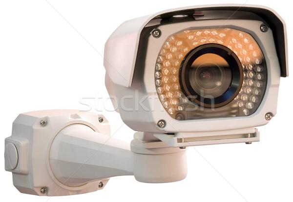 Caméra de sécurité gris isolé technologie Photo stock © Suljo