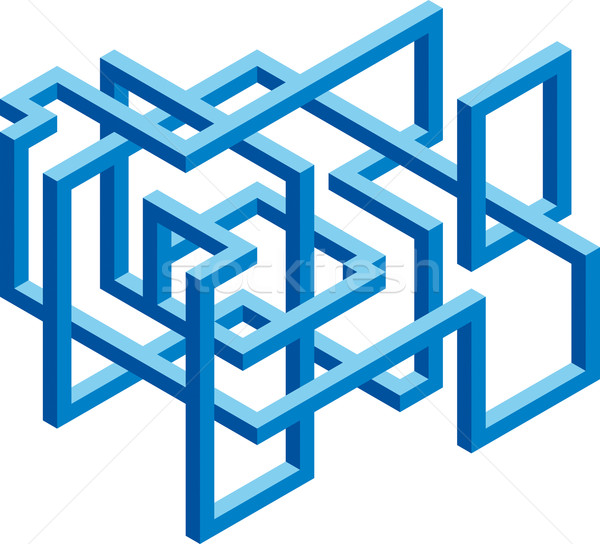 Construção cubo vetor sinais negócio Foto stock © Suljo
