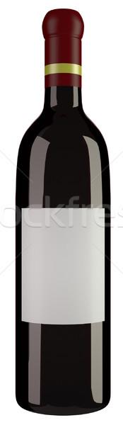 бутылку вина изолированный белый пить бутылку Сток-фото © Suljo