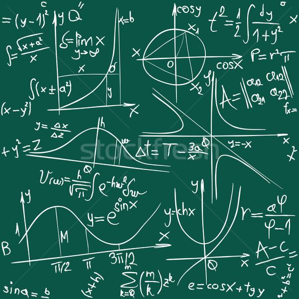 Geometria senza soluzione di continuità math segno verde scienza Foto d'archivio © Suljo