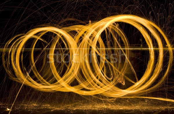 Light Painting Sparks Stock photo © Suljo
