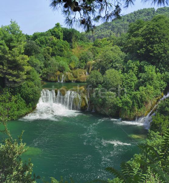 Krka Waterfall Croatia Stock photo © Suljo