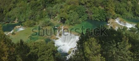 Waterval panorama park rivier water natuur Stockfoto © Suljo