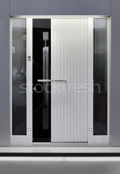 Aluminum Door Stock photo © Suljo