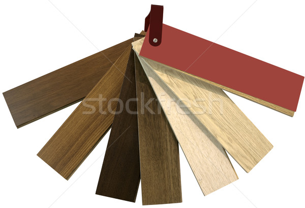 Color Swatch for Flooring Cutout Stock photo © Suljo