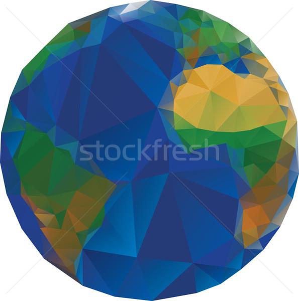 Low Poly World Globe Stock photo © Suljo