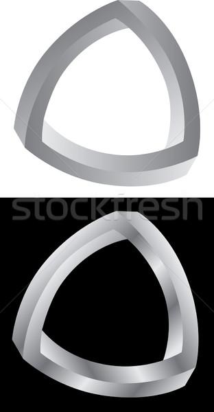 Triângulo contato link conexão clipe ilustração Foto stock © Suljo
