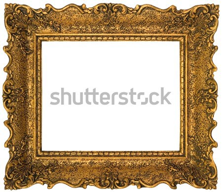 Golden Picture Frame Cutout Stock photo © Suljo