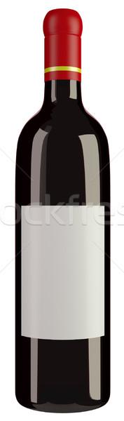 Wijnfles geïsoleerd witte drinken fles Stockfoto © Suljo