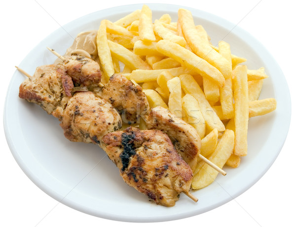 Chicken skewers Stock photo © Suljo