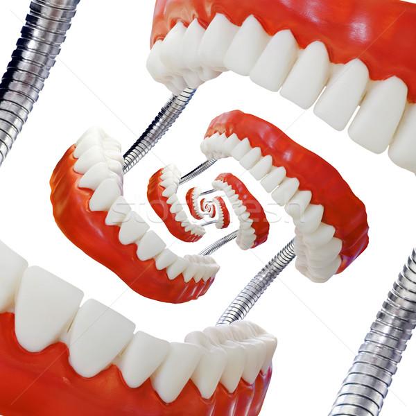 Modell pädagogisch abstrakten Mund Spirale Stock foto © Suljo