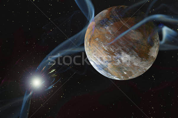 Rocky Dry Alien Planet Stock photo © Suljo