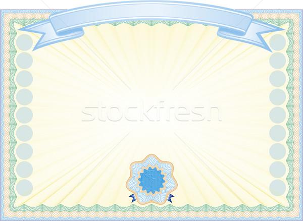 Engraved certificate Stock photo © Suljo