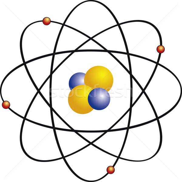атом электрон химии концепция изолированный иллюстрация Сток-фото © Suljo