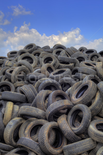 Old Tyres Hill Stock photo © Suljo