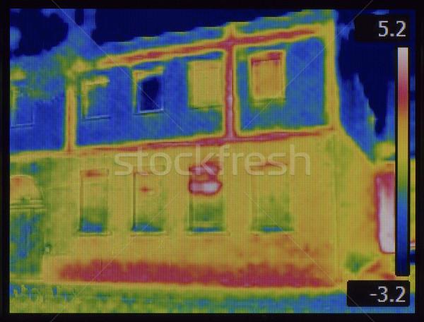 Stock fotó: Homlokzat · infravörös · kép · új · padló · ház