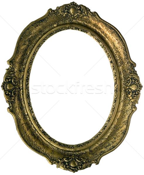 Dourado quadro velho moldura de madeira isolado Foto stock © Suljo