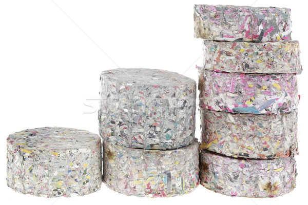 Recycled Paper Fire Logs Cutout Stock photo © Suljo