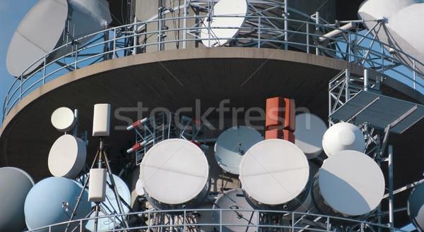 связи башни телевизор радио антенна технологий Сток-фото © Suljo
