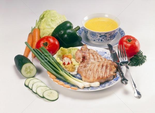 Befsztyk bogate menu żywności restauracji jedzenie Zdjęcia stock © Suljo