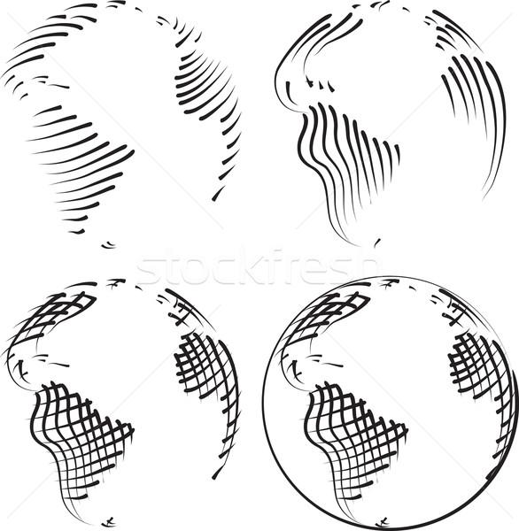 простой Мир вектора земле мяча Сток-фото © Suljo