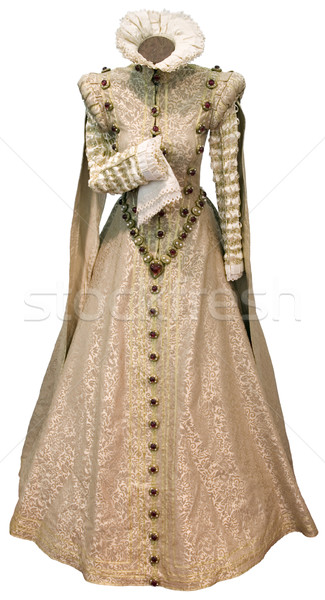 Beige renaissance dress cutout Stock photo © Suljo