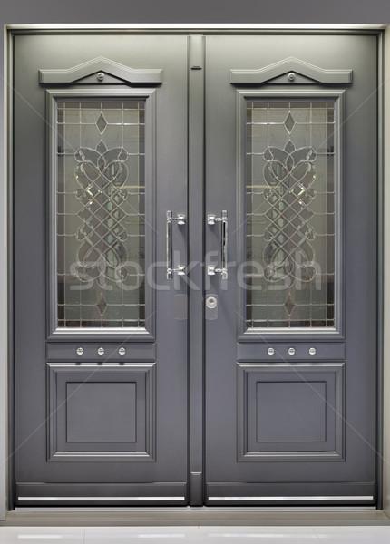 алюминий двери металлический вход безопасности Сток-фото © Suljo