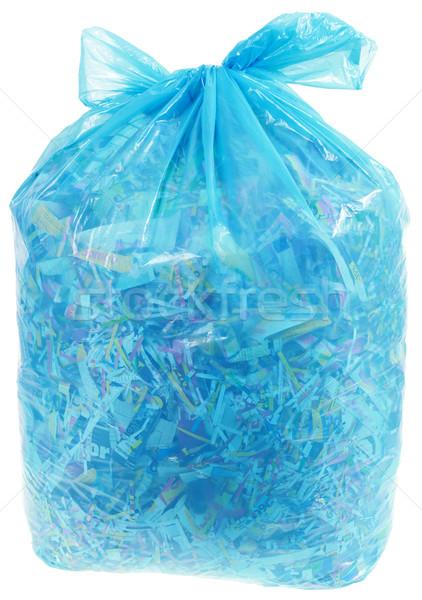 Transparent Plastic Bag with Paper Shreddings Stock photo © Suljo