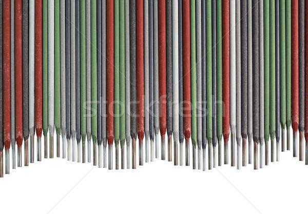 Foto stock: Soldagem · colorido · metal · industrial · onda