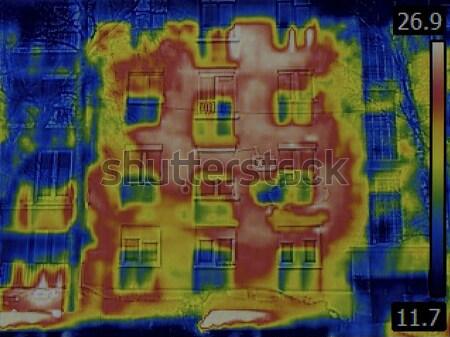 Lichaam warmte distributie menselijke wetenschappelijk onderzoek Stockfoto © Suljo