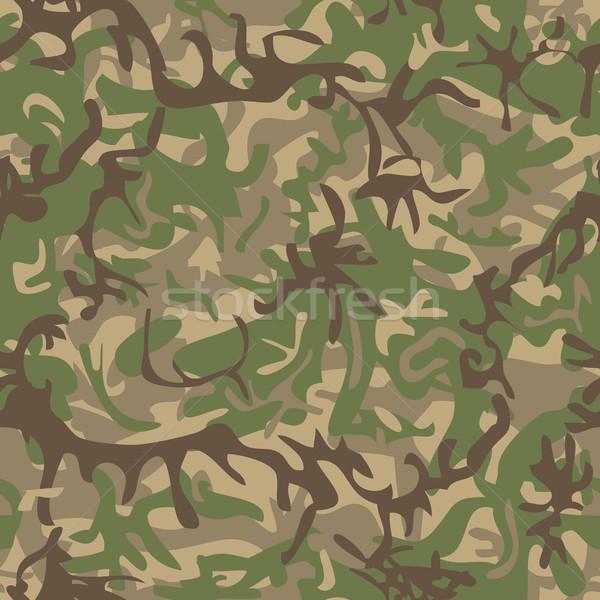 Militärischen Muster Textilindustrie Mode Maske Stock foto © Suljo