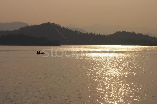 Geleneksel balık tutma kırsal tekne Stok fotoğraf © sundaemorning