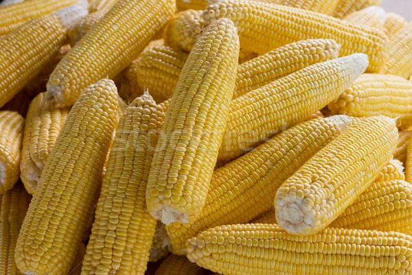 Csemegekukorica zöldség citromsárga friss hozam héj Stock fotó © sundaemorning
