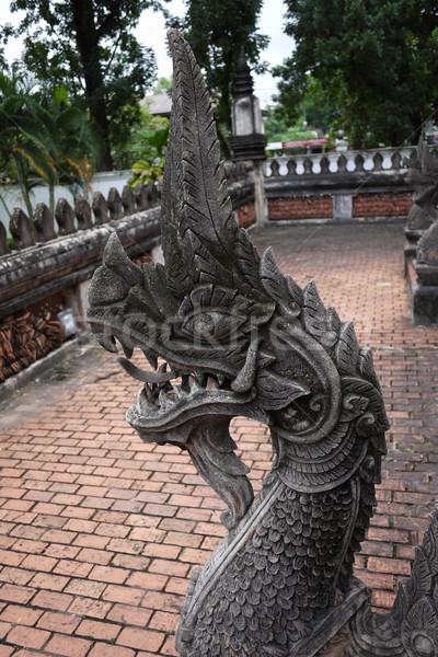 Roi animaux antique temple touristiques Laos Photo stock © sundaemorning
